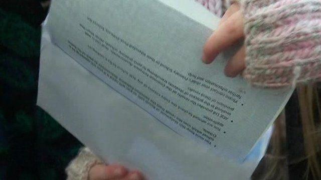 Transfer test result letter