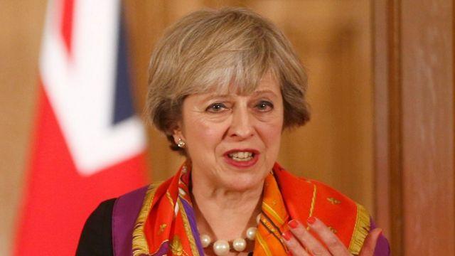 رئيسة الوزراء البريطانية تيزيزا ماي