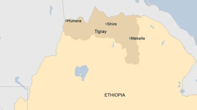 Ikarita ya Tigray muri Ethiopia