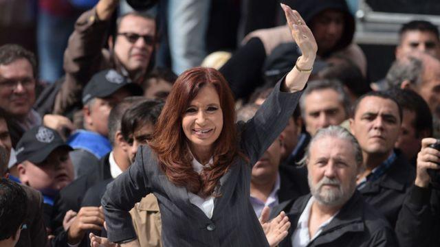 Cristina Fernandez en marcha
