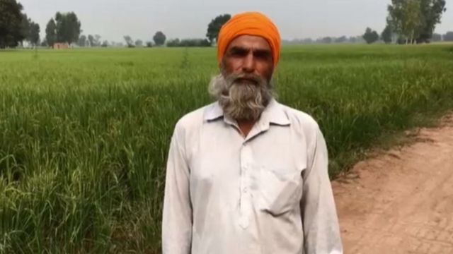 Farmer Salvinder Singh from Punjab