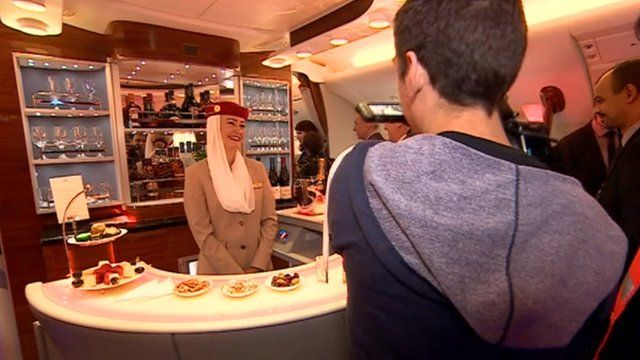 On board the Airbus A380