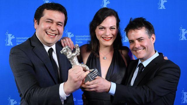 """Gonzalo Maza, Daniela Vega y Sebastián Lelio, equipo de """"Una mujer fantástica"""""""