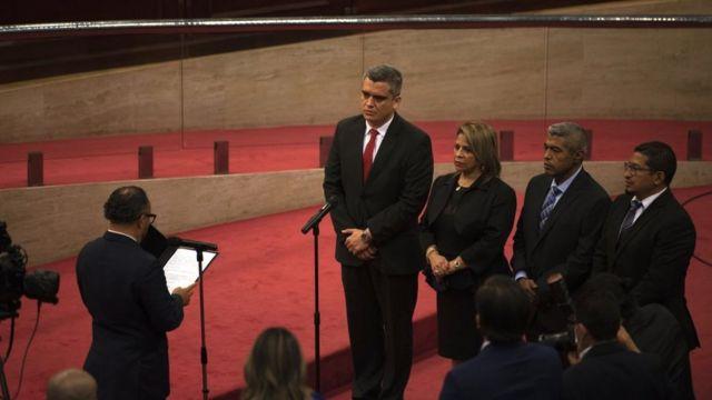 Nuevos magistrados de la Sala de lo Constitucional de El Salvador