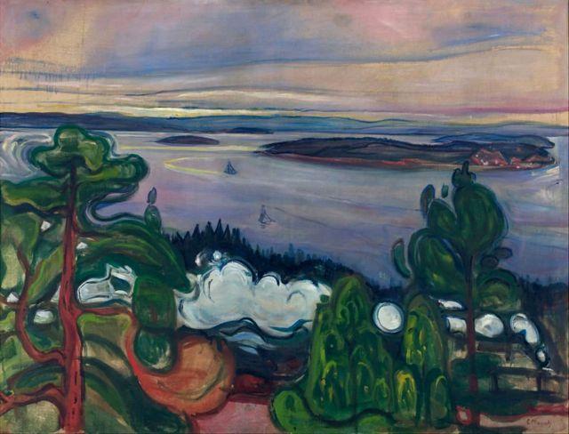 """""""Humo del tren"""". Obra encontrada en la colección del Museo Munch de Oslo."""