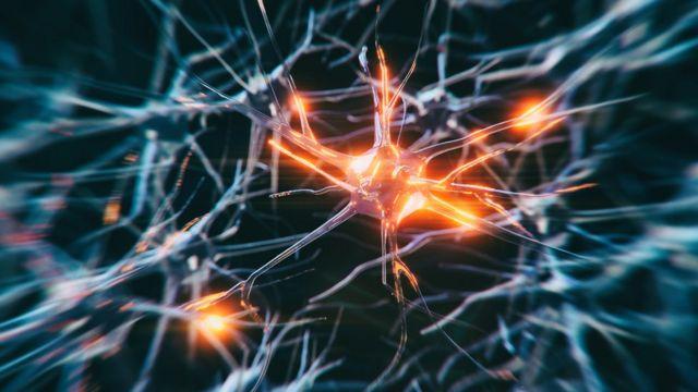 Ilustração artística de neurônio