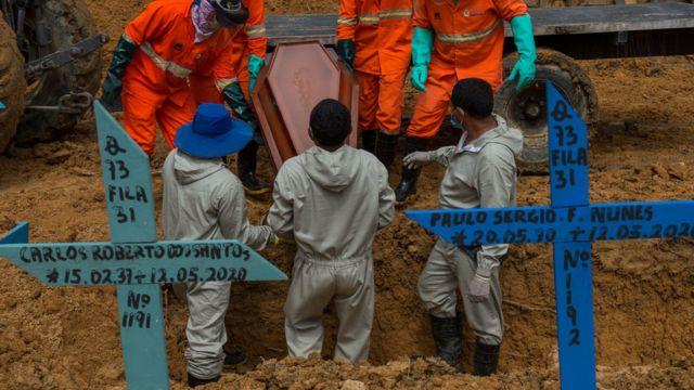Enterro em Manaus