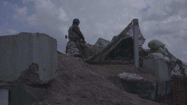 Солдаты на востоке Украины
