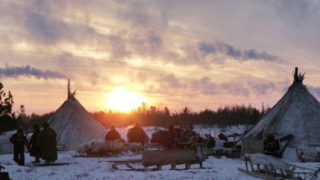 Comunidad de pastores nómadas en Siberia