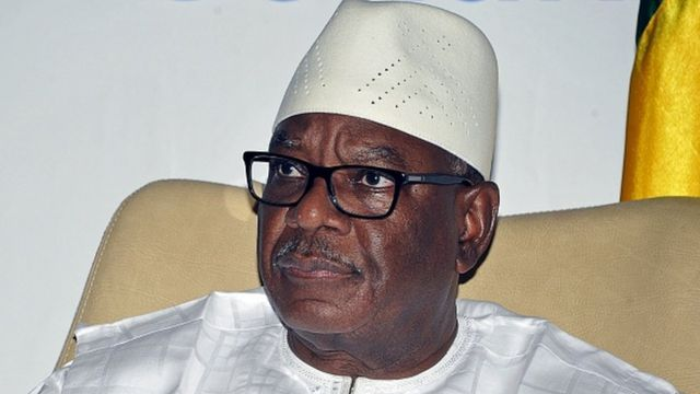 Le président malien Ibrahim Boubacar Keïta, lors du sommet de l'OMVS en 2015 (illustration).