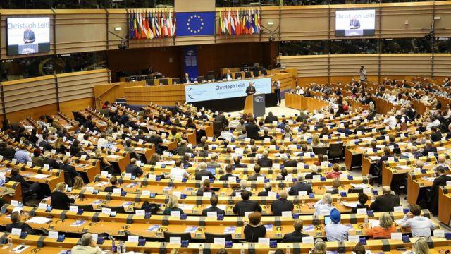 Sesión del Parlamento Europeo en Bruselas