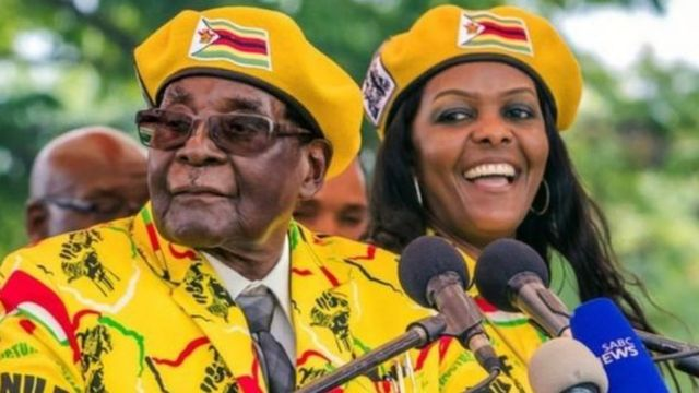 موغابي وزوجته