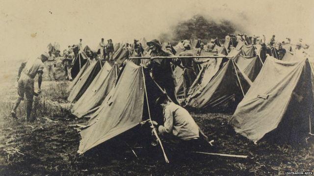 Vida em acampamento