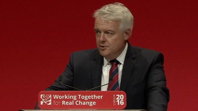 Carwyn Jones at the Labour conference in Liverpool on Sunday 25 September