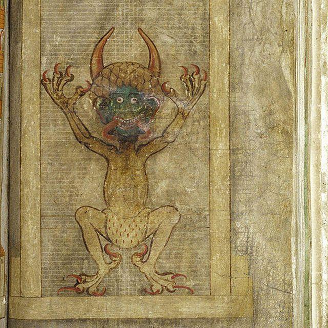 Ilustración de la Biblia del Diablo.