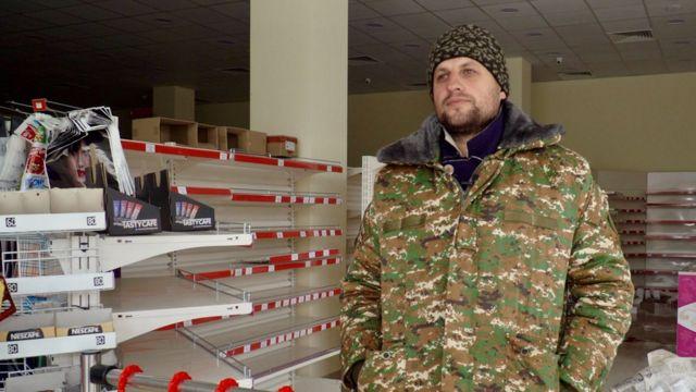 американско-карабахский армянин Степан Саргсян, бывший владелец магазина в Лачине