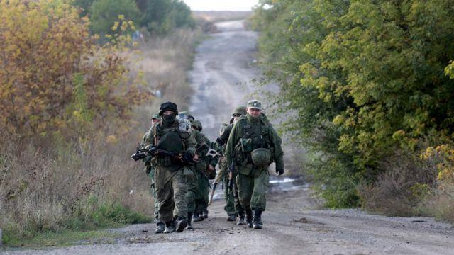 военные самопровозглашенной ДНР на востоке Украины