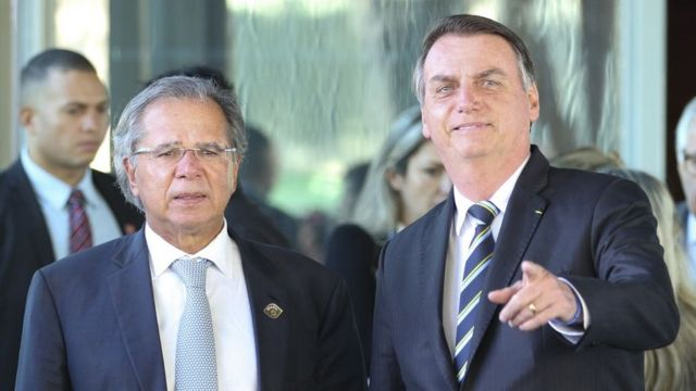 Ministro da Economia, Paulo Guedes, e presidente Jair Bolsonaro
