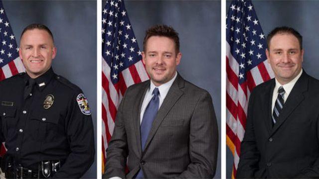 تصویر سه مامور پلیسی که به خانم تیلور شلیک کرده بودند