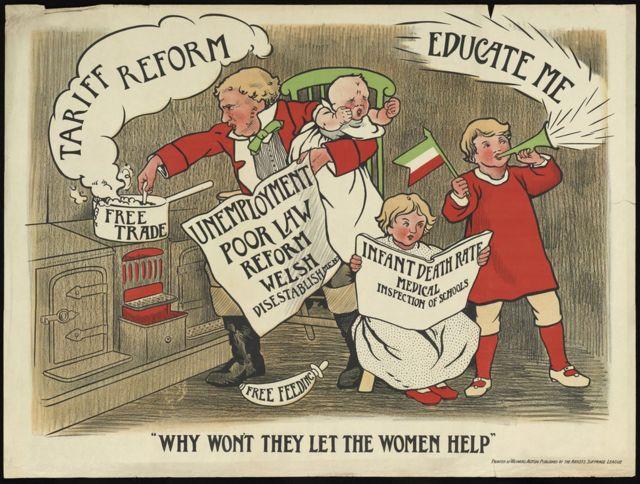 Собирательный образ эдвардианской Британии Джон Балл пытается сам справиться с детьми и домашними проблемами