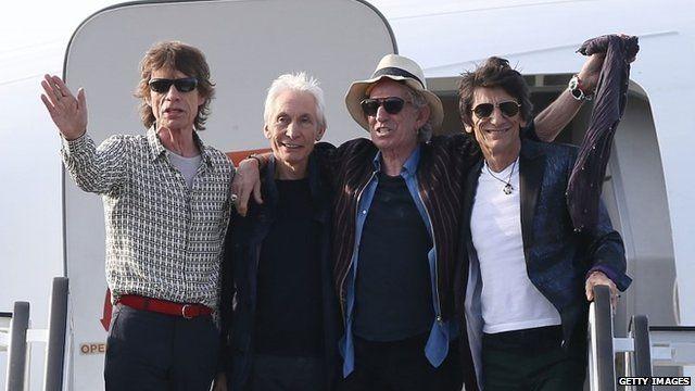 The Rolling Stones arrive in Cuba