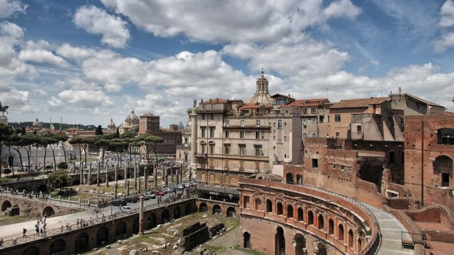 Ruinas da Roma antiga na capital italiana