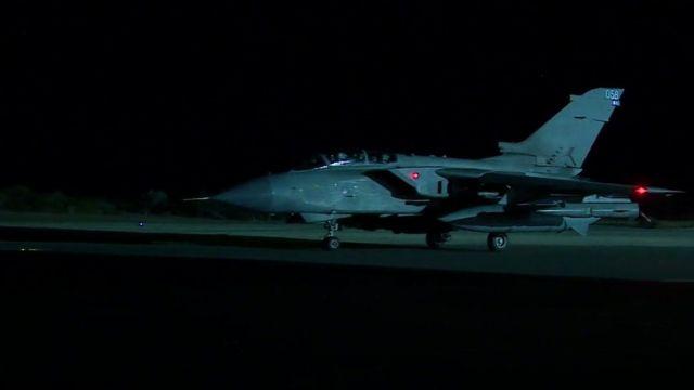 A Tornado jet leaving RAF Akrotiri, Cyprus
