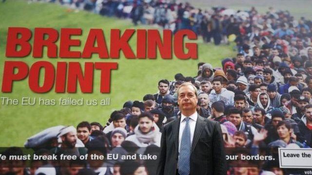Anúncio polêmico de Farage na campanha