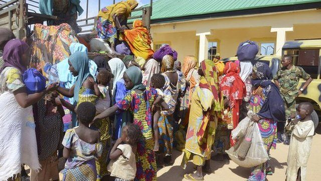People rescued by Nigerian army.