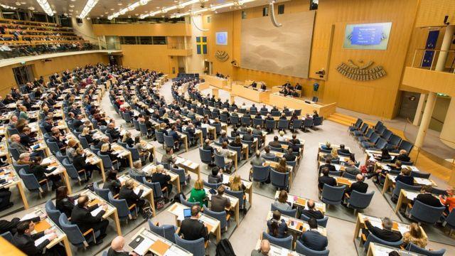 Заседание шведского парламента