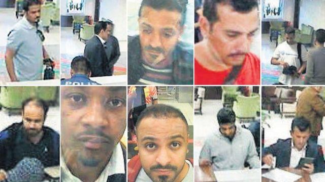 بعض الرجال المشتبهين في مقتل خاشقجي