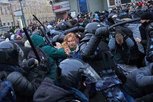 मस्को विरोध प्रदर्शन