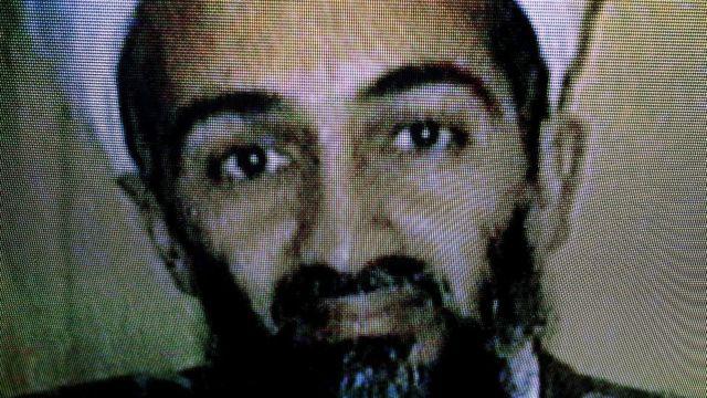 Osama Bin Laden en televisión.