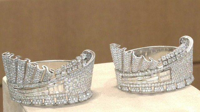 Diamond encrusted cuffs