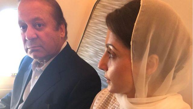 نواز شریف اور ان کی صاحبزادی مریم نواز