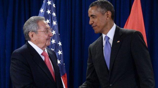 Raúl Castro e Barack Obama.