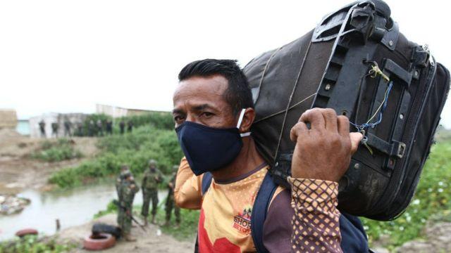 Migrante venezolano.