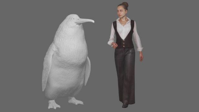 Canterbury Müzesi dev penguenin illüstrasyonunu yaptı.