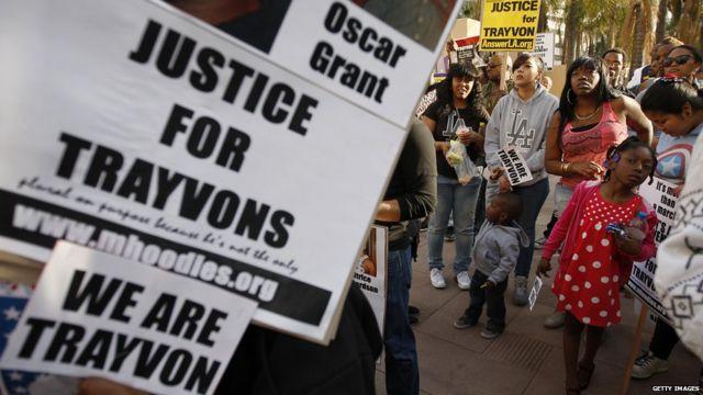 トレイボン・マーティンさん射殺に抗議する集会が全米各地で開かれた