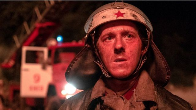 British actor Adam Nagaitis plays Vasily Ignatenko, a fireman who was one of the first responders to the disaster. He is one of the main characters in the first episode