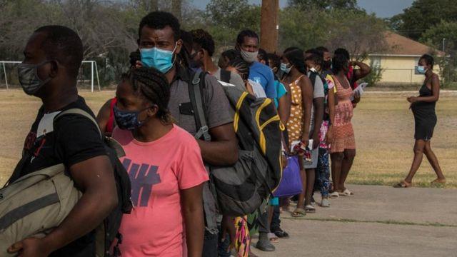 Haitianos en Del Río