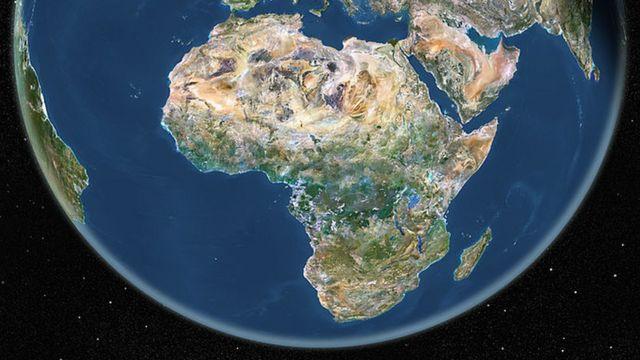 Imagen satelital de África
