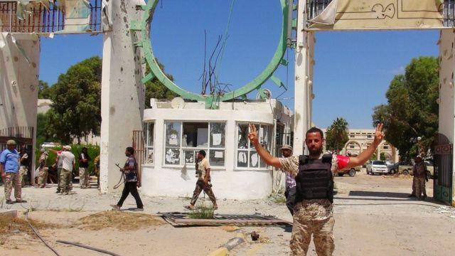 लीबिया का एक तबाह विश्वविद्यालय