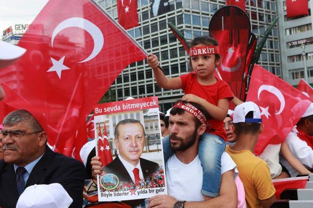 Pro-Erdogan rally in Ankara, 7 Aug 16
