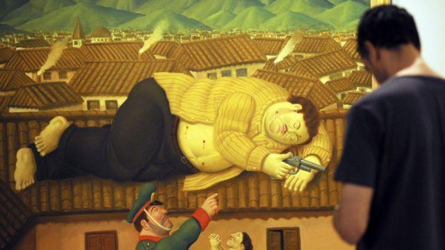 Cuadro de Botero en el Museo de Medellín