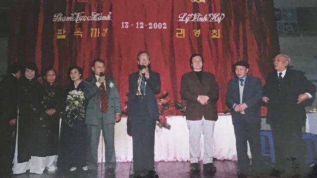 2002년 하노이에서 올린 두 사람의 결혼식