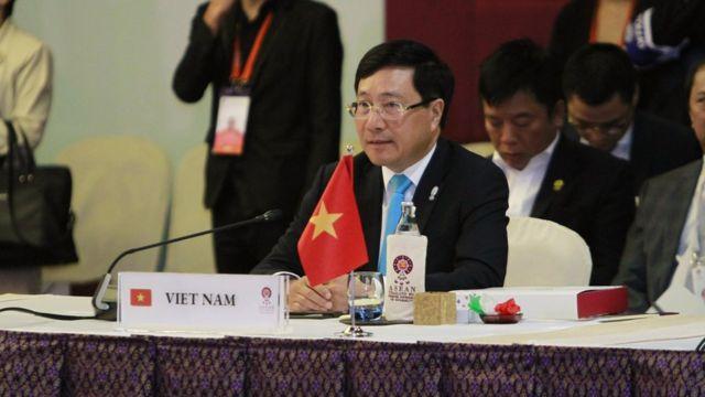 Bộ trưởng Ngoại giao Việt Nam Phạm Bình Minh tại Hội nghị Bộ trưởng ASEAN 2019 tại Bangkok, Thái Lan