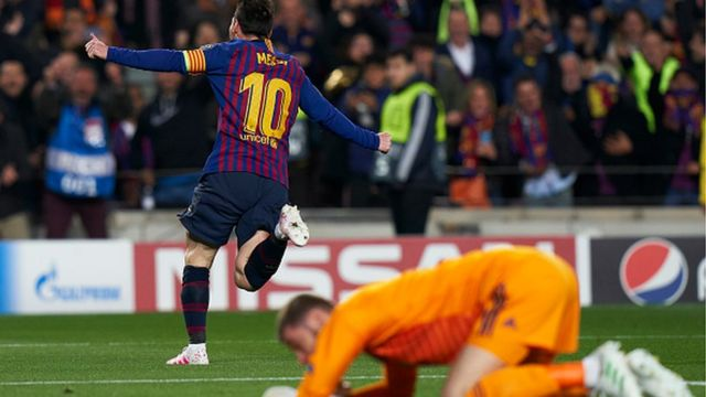 Messi na De Gea