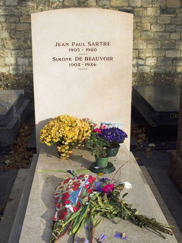 Tumba de Jean-Paul Sartre y Simone de Beauvoir