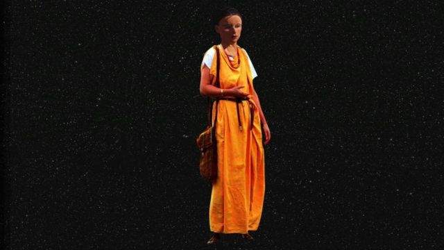 Computer generated image of girl
